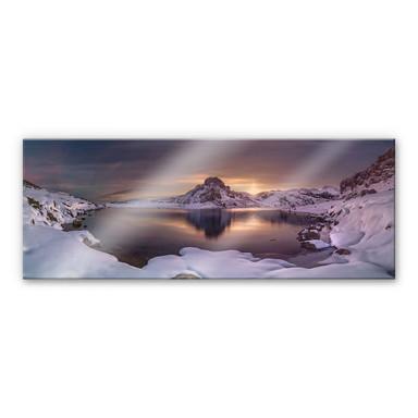 Acrylglasbild Cuadrado - On Golden Pond - Panorama
