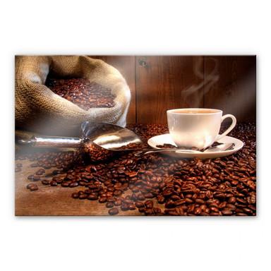 Acrylglasbild Kaffeegenuss