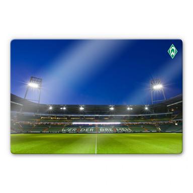 Glasbild Weserstadion Tribüne