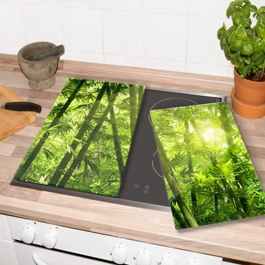 Herdabdeckplatte Sonnenschein im Bambuswald