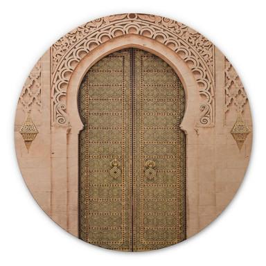 Holzbild Sisi & Seb - Moroccan Door - Rund