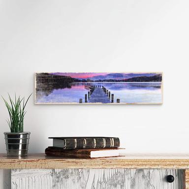 Holzschild Seepanorama