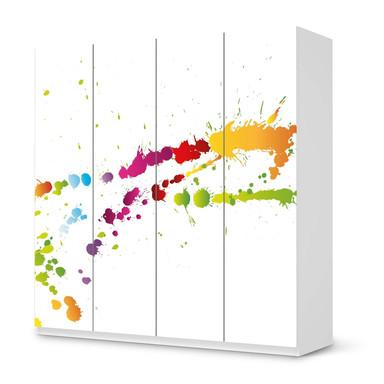 Klebefolie IKEA Pax Schrank 201cm Höhe - 4 Türen - Splash 2- Bild 1
