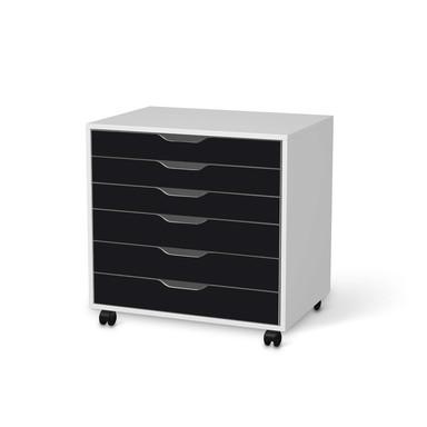 Möbelfolie IKEA Alex Rollcontainer 6 Schubladen - Schwarz