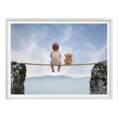 Poster Mit Teddy in den Bergen