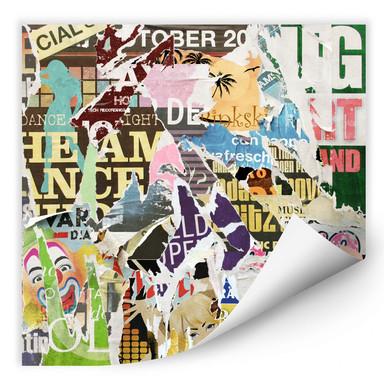 Wallprint Abgerissene Poster 2