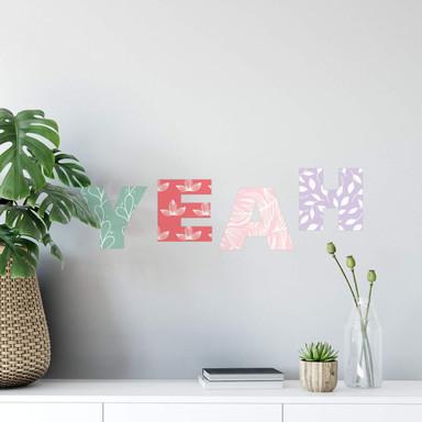 Wandtattoo Alphabet Muster Floral