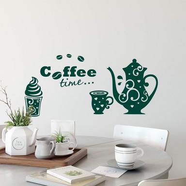 Wandtattoo Coffee Time 3