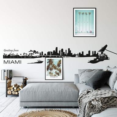 Wandtattoo Miami Skyline