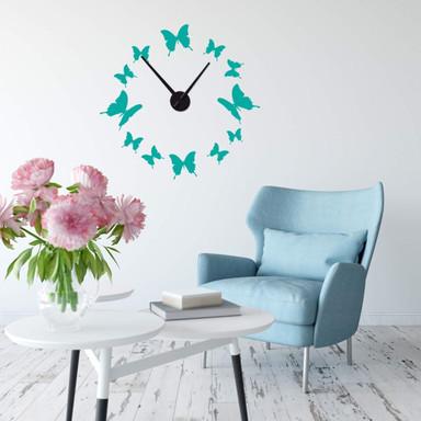 Wandtattoo + Uhr Schmetterlinge Uhr