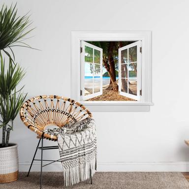3D Wandtattoo Fenster quadratisch - Hängematte