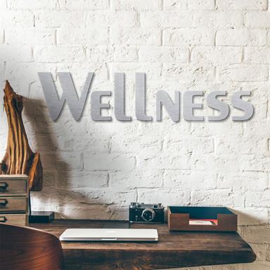 Alu-Dibond Buchstaben - Silbereffekt - Wellness