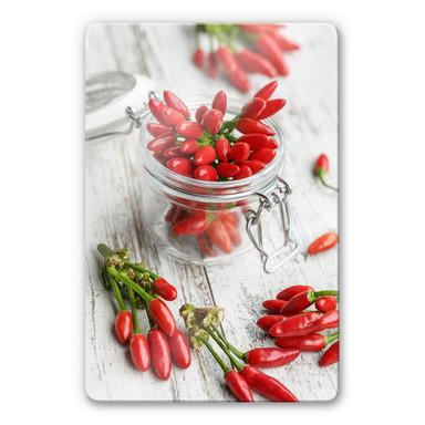 Glasbild Hot Chili