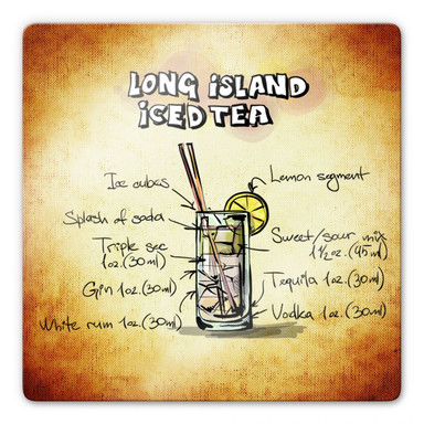Glasbild Long Island Iced Tea - Rezept