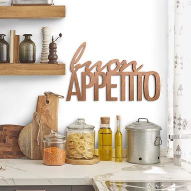 Holzbuchstaben Mahagoni - Buon Appetito