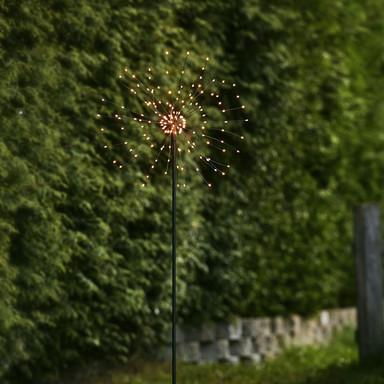 LED Erdspiessleuchte Firework in Schwarz Warmweiss