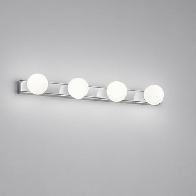 LED Wandleuchte Lis in Chrom und Weiss-satiniert 4x 3W 920lm IP44