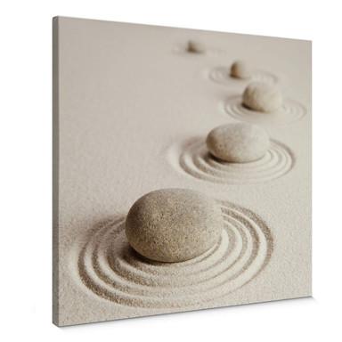 Leinwandbild Zen Garten - Quadratisch