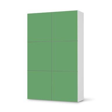 Möbel Klebefolie IKEA Besta Schrank 6 Türen (hoch) - Grün Light- Bild 1