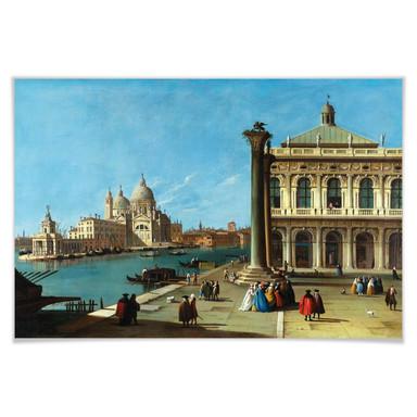 Poster Canaletto - Die Einfahrt zum Canal Grande