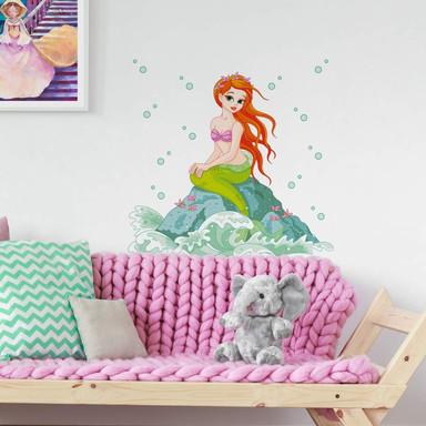 Wandsticker Eine kleine Meerjungfrau