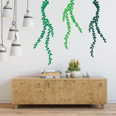 Wandtattoo Hängepflanze