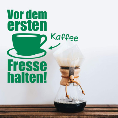 Wandtattoo Vor dem ersten Kaffee... 1