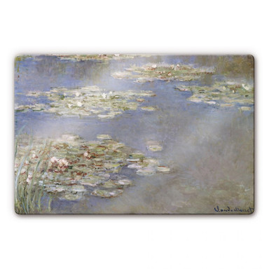 Glasbild Monet - Seerosen 1905