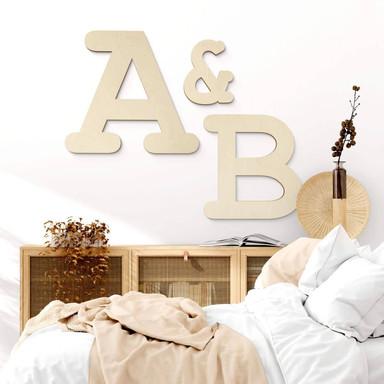 Holzbuchstaben Pappel - Schriftart Courier