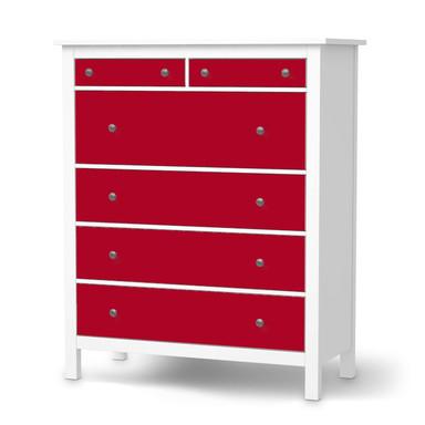 Klebefolie IKEA Hemnes Kommode 6 Schubladen - Rot Dark- Bild 1