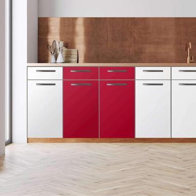 Küchenfolie - Unterschrank 80cm Breite - Rot Dark