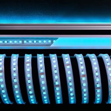 LED Flexibler LED Stripe 5050-96-24V-RGB-5M-Silikon in Weiss 2600lm IP67