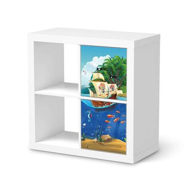 Möbelfolie IKEA Kallax Regal 2 Türen (hoch) - Pirates