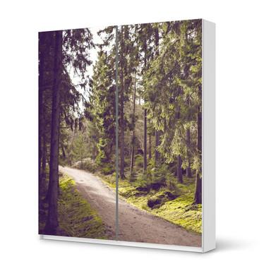 Möbelfolie IKEA Pax Schrank 236cm Höhe - Schiebetür - Forest Walk