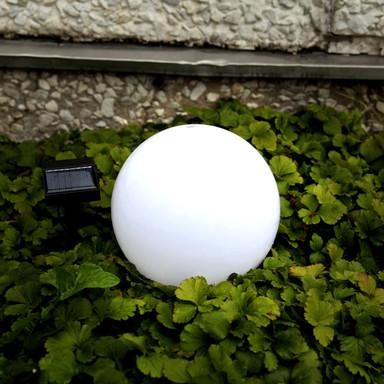 Solar- Gartenkugel Globus, mit Sensor und LED, Ø 200 mm