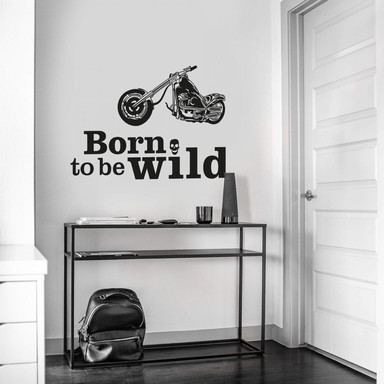 Wandtattoo Born to be wild