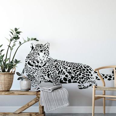 Wandtattoo Leopard liegend