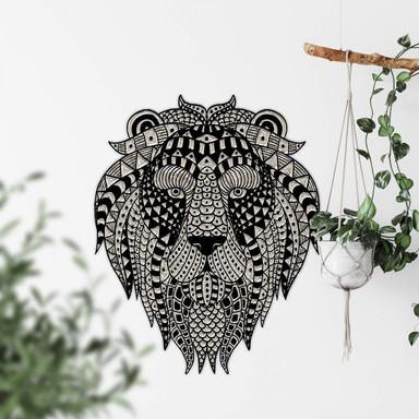 Wandtattoo Metallic Lion