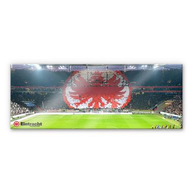 Acrylglasbild Eintracht Frankfurt Arena Fanlogo - Panorama