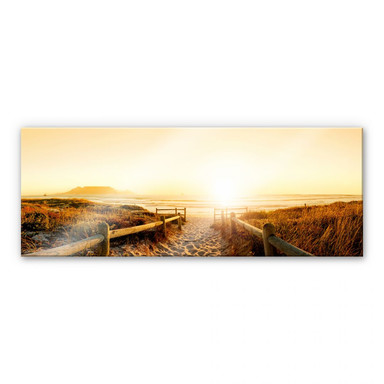 Acrylglasbild Sunset at the Beach - Panorama