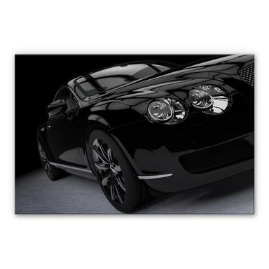 Alu Dibond Bild Metallic Car Black 02