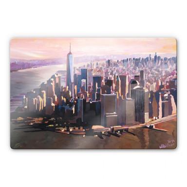 Glasbild Bleichner - Manhattan Freedom