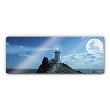 Glasbild Lighthouse Panorama