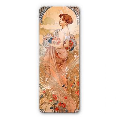 Glasbild Mucha - Jahreszeiten: Der Sommer 1900