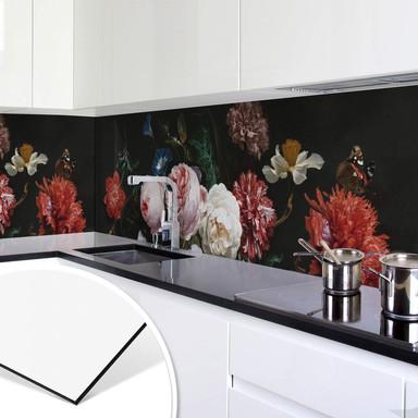 Küchenrückwand Heem - Stillleben mit Blumen in einer Glasvase