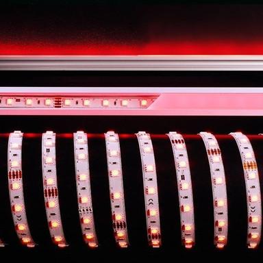 LED Stripe 5050-60-24V-Rgb&4000K-5M in Weiss 2950lm