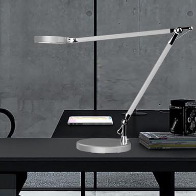 LED Tischleuchte Senza 8W 550lm dimmbar in Metallgrau