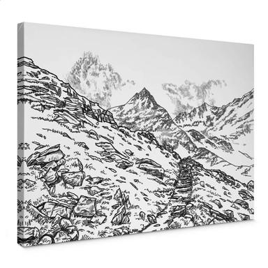 Leinwandbild Sparshott - Die Berglandschaft