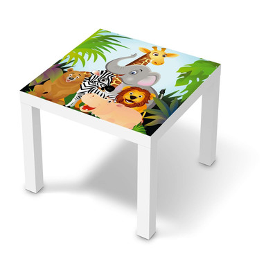 Möbelfolie IKEA Lack Tisch 55x55cm - Wild Animals