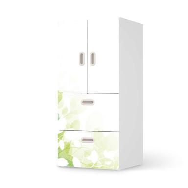 Möbelfolie IKEA Stuva / Fritids - 2 Schubladen und 2 kleine Türen - Flower Light